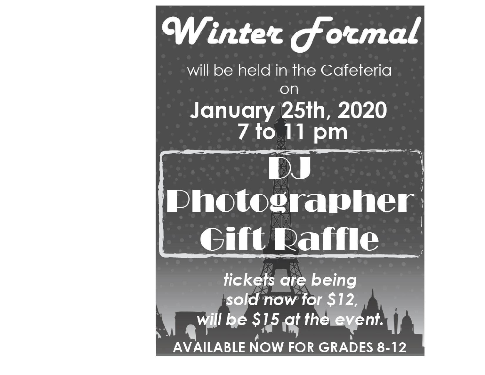 Winter Formal Ticket